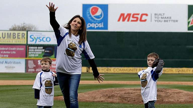 Lisa Martinolich-Tuozzolo and her two sons Joseph, 4, and