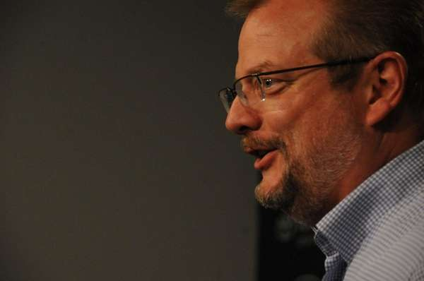 Jets GM Mike Maccagnan speaks to reporters duringhis