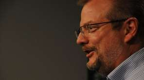 Jets GM Mike Maccagnan speaks to reporters during his