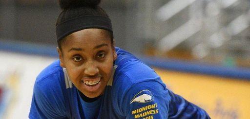 Hofstra forward Ashunae Durant during women's basketball practice