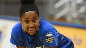 Hofstra forward Ashunae Durant during women's basketball practice