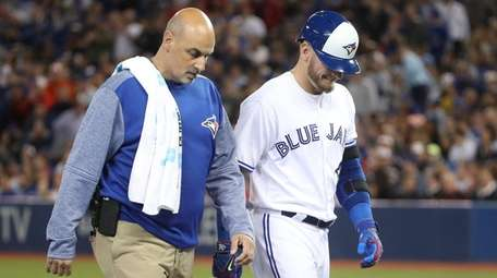 Josh Donaldson of the Toronto Blue Jays exits