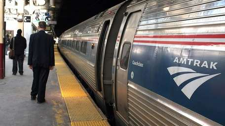 An Amtrak train got stuck outside of Penn