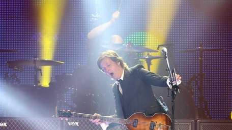 Paul McCartney, above at Brooklyn's Barclays Center in