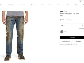 Nordstrom is selling PRPS Barracuda Straight Leg Jeans,