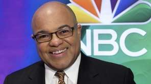 Mike Tirico attends the NBC Universal mid-season press
