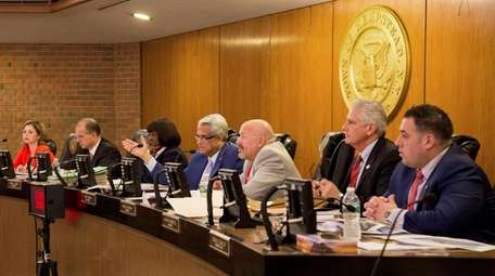 Hempstead Town Council members are, from left, Erin