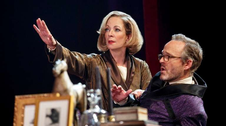 Allison Janney and John Benjamin Hickey in the