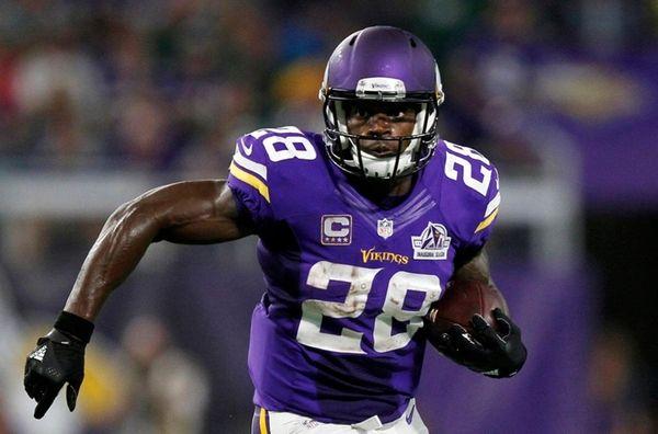 Minnesota Vikings running back Adrian Peterson against the
