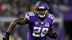 Minnesota Vikings running back Adrian Peterson against the