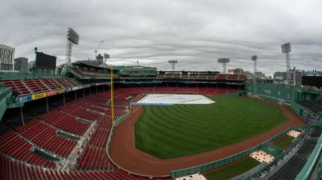 A view of Fenway Park before the first