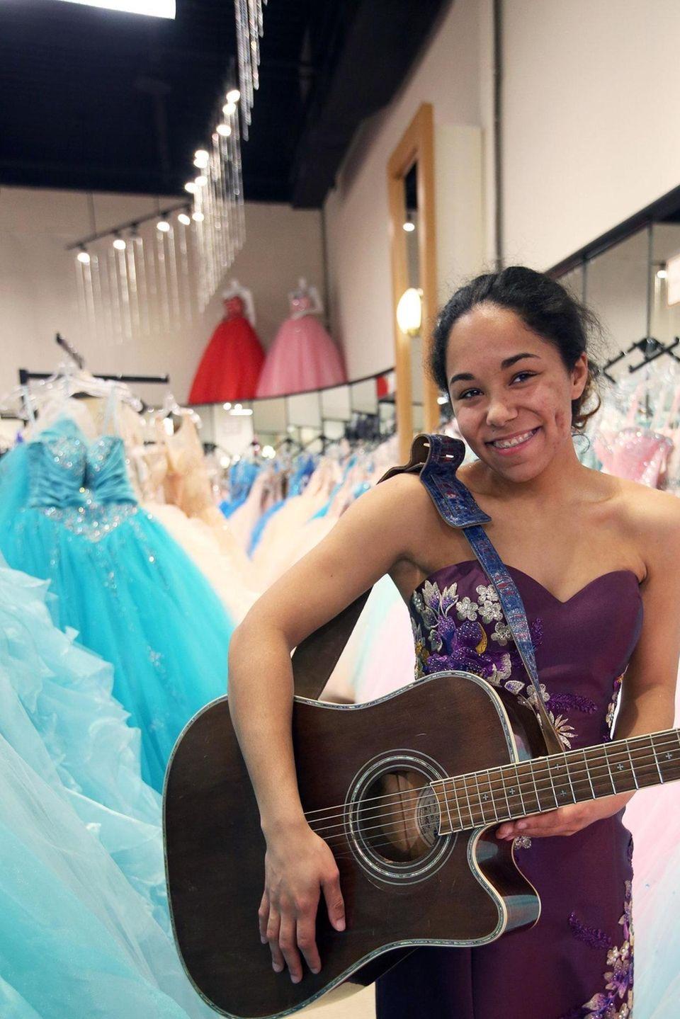 This year's Project Prom winner, Felicity Joy Masone,
