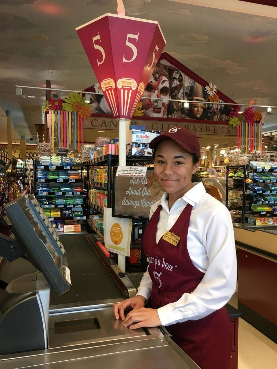 Felicity Masone on the job at Uncle Giuseppe's