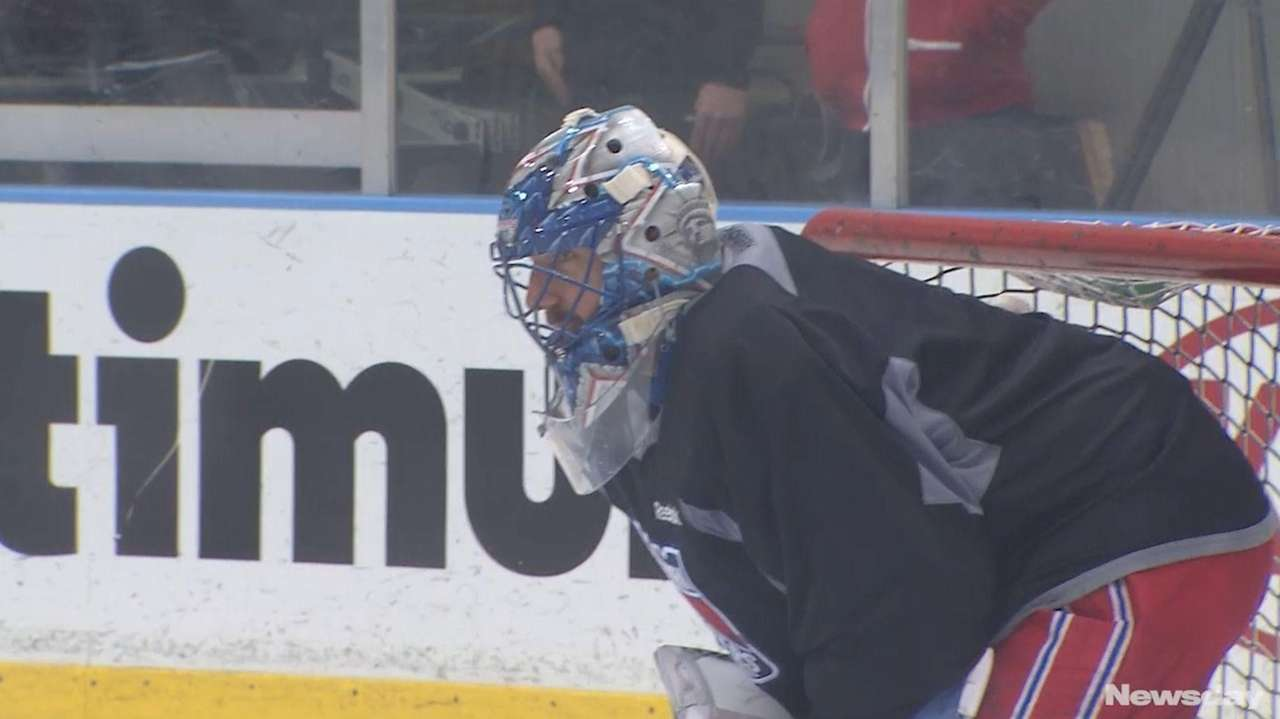 The Rangers were back on the ice on
