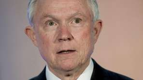 U.S. Attorney General Jeff Sessions speaks during the