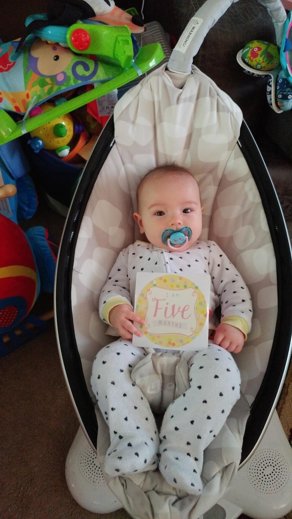 Elisabeth turned 5 months on April 18, 2017