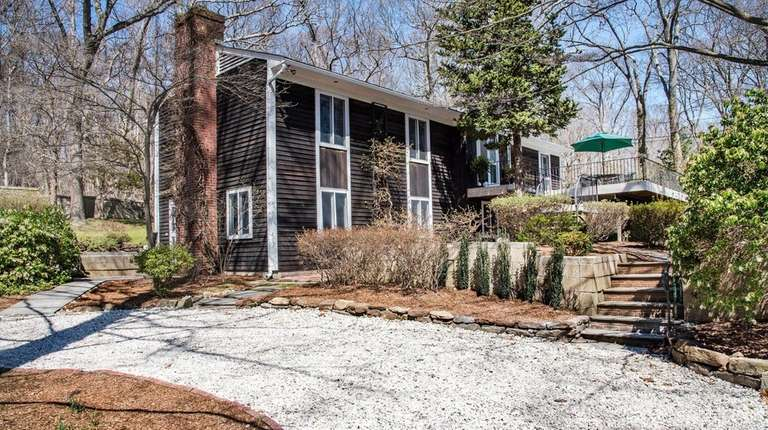 This three-bedroom house in Old Field is on
