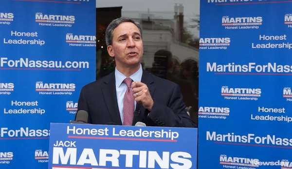 Former Republican State Sen. Jack Martins announced Wednesday,