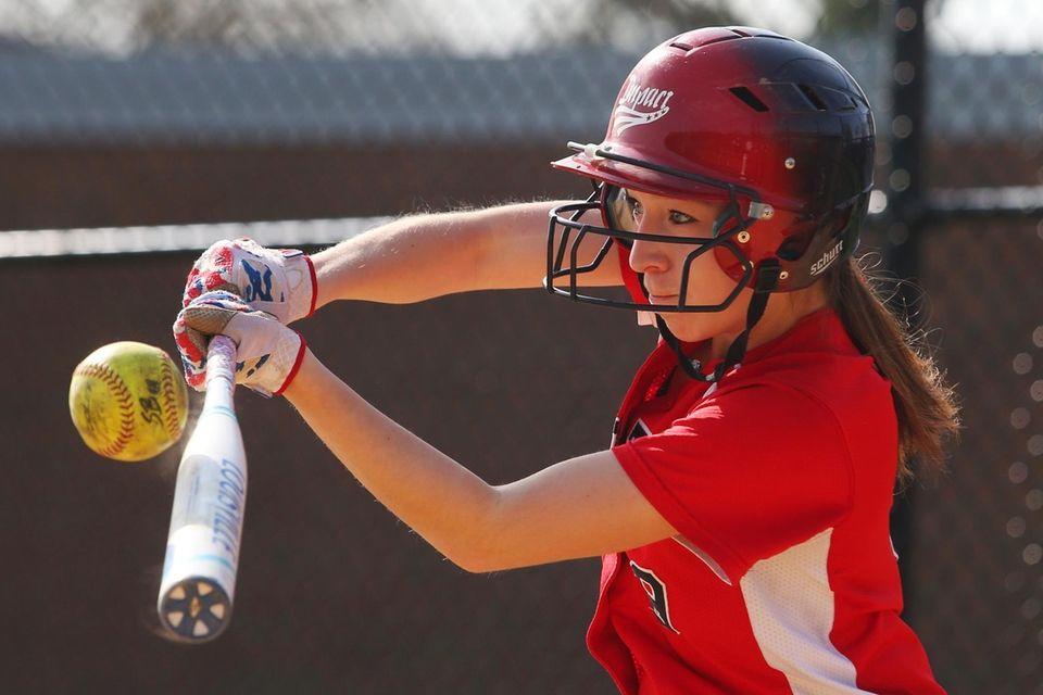 Wheatley shortstop Samantha Hurtado hits a ball during