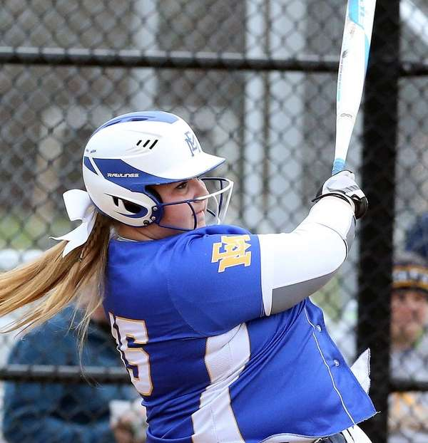 East Meadow's Christina Loeffler hits a home run