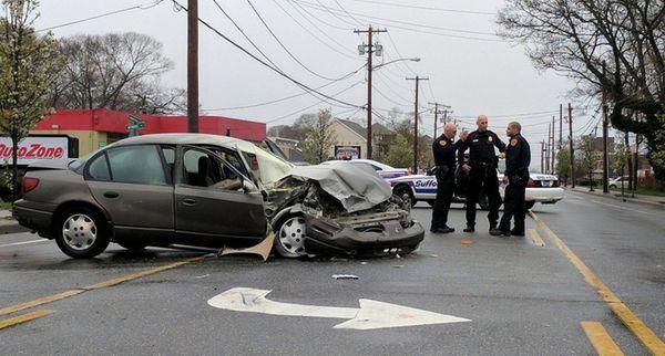 Three people were injured in a crash Wednesday,