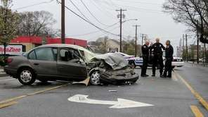 Three people were injured in a crash Wednesday,