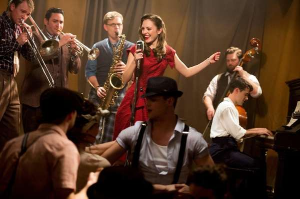 Laura Osnes and the cast of