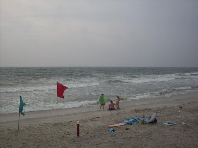 The ocean side of Tobay Beach.