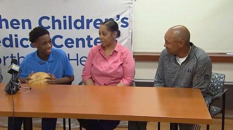 Kidney transplant recipient Matthew Francis, 14, of Rockaway