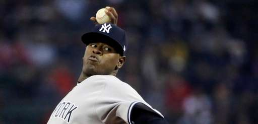 New York Yankees' Luis Severino threw seven shutout