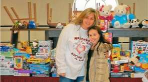 Kidsday reporter Miranda Waters with AnneMarie Allen-Guli, who