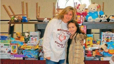 Kidsday reporter Miranda Waters with AnneMarie Allen-Guli, who