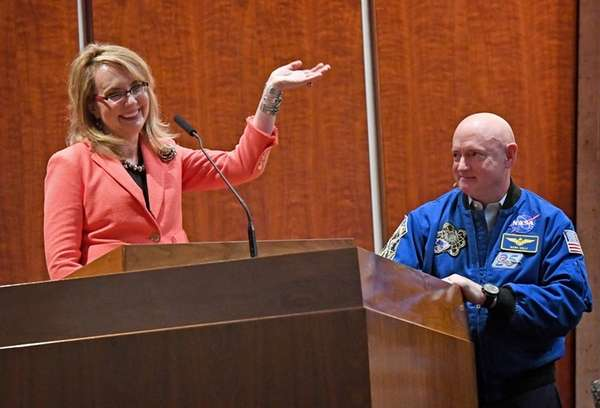 Former Rep. Gabby Giffords (D-Ariz.) and her husband