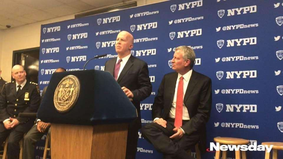 NYPD Commissioner James O'Neill, Chief of Detectives Robert
