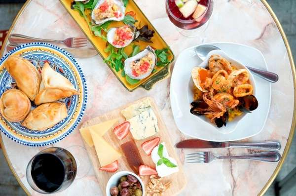 Small plate items perfect for sharing are offered