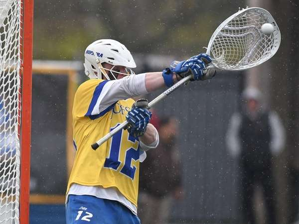 Hofstra goalie Jack Concannon makes a save during the