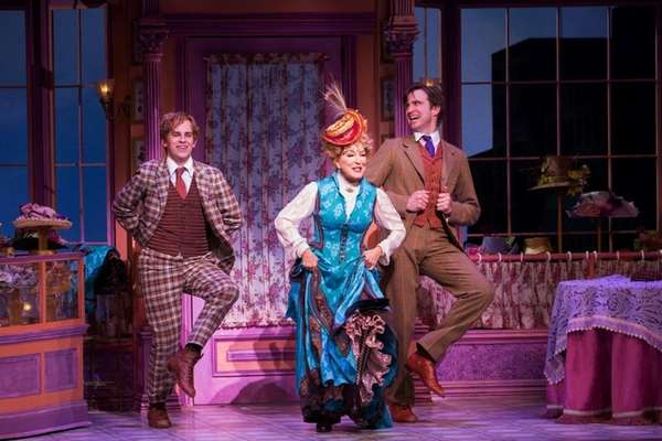 Taylor Trensch, Bette Midler and Gavin Creel