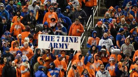 The 7 Line Army in centerfield during Game