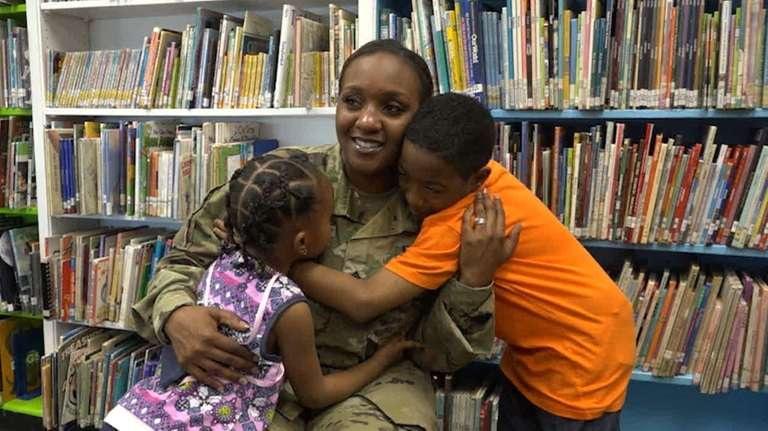 Army Sgt. Shenasiah Lowe, who is stationed in