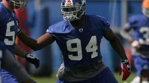 New York Giants no. 94 Mathias Kiwanuka during