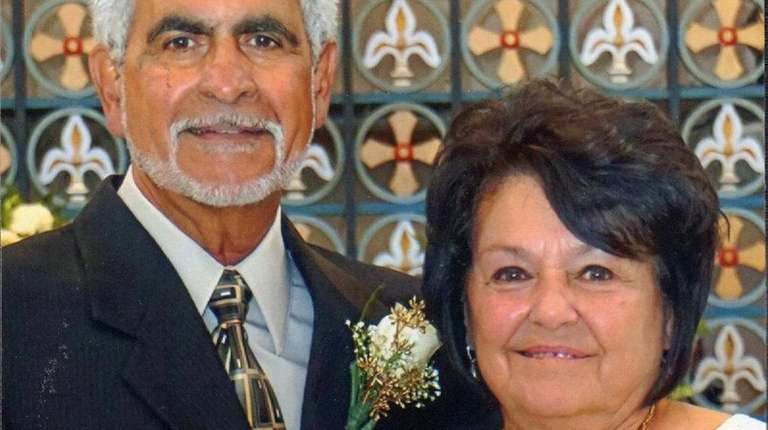 Frank and Lucy Caldone of Deer Park celebrated