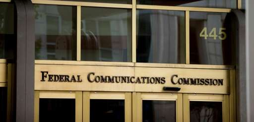 The Federal Communications Commission building in Washington.