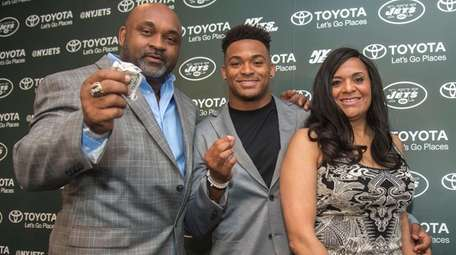 Jamal Adams is introduced by the Jets with