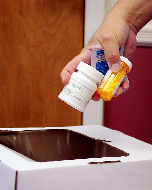 Local residents drop off unused prescription drugs on