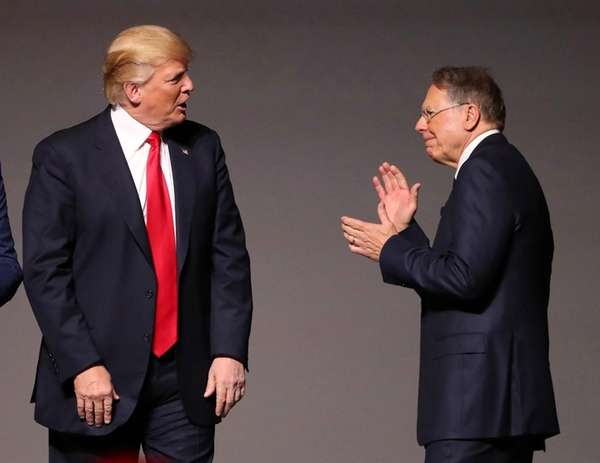 President Donald Trump with National Rifle Association executive