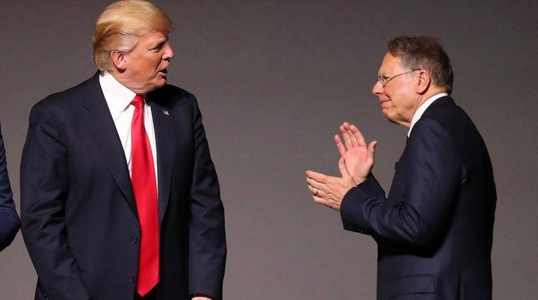 President Donald Trump with National Rifle Association executive