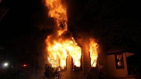 A fire in a house on Davison Avenue