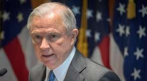 Attorney General Jeff Sessions speak with federal, state