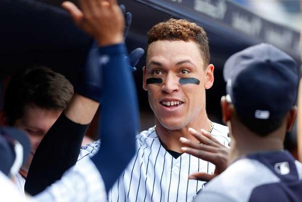 Aaron Judge #99 of the New York Yankees