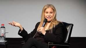 Barbra Streisand speaks during the